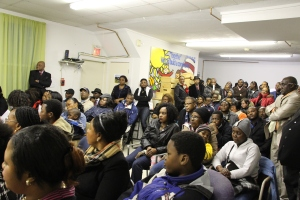 Over 100 members of the Congolese community in New Hampshire gathered for the vote.