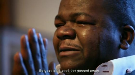 Congolese immigrant Yodi Zikianda of Lynn remembers his late wife, Irene Bamenga.