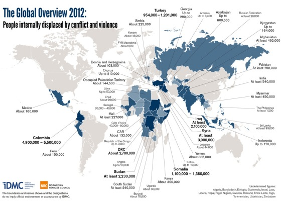 Refugee Camps Around The World Map.Guardian Maps Global Displacement Numbers Congolese Americans